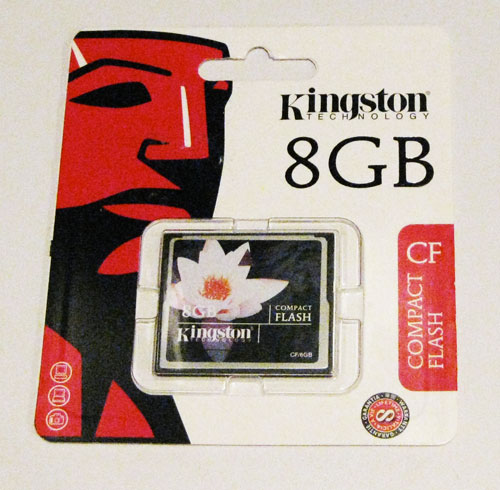 8 GB Kingston Compact Flash Card