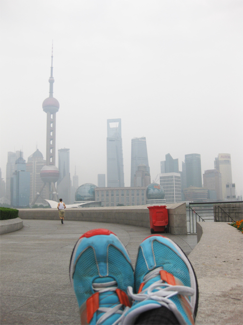 Running on the Shanghai Bund