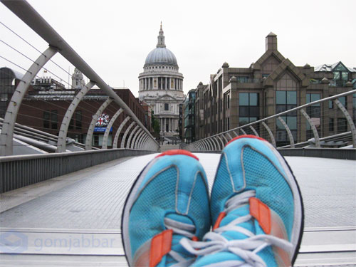 St Paul's Cathedral in London, viewed from the Millennium Bridge