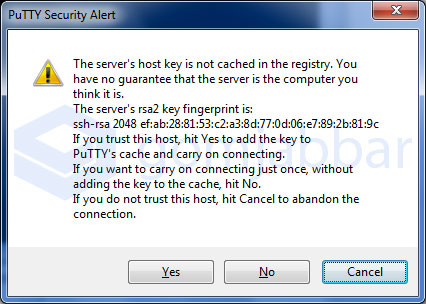 Putty Message for SSH Fingerprint