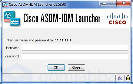 Cisco ASDM Login Prompt