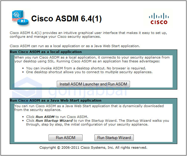 Cisco ASDM 6.4(1) index.html